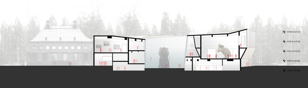 Competition Entry for Extension of Serlachius Museum Gsta / PRAUD