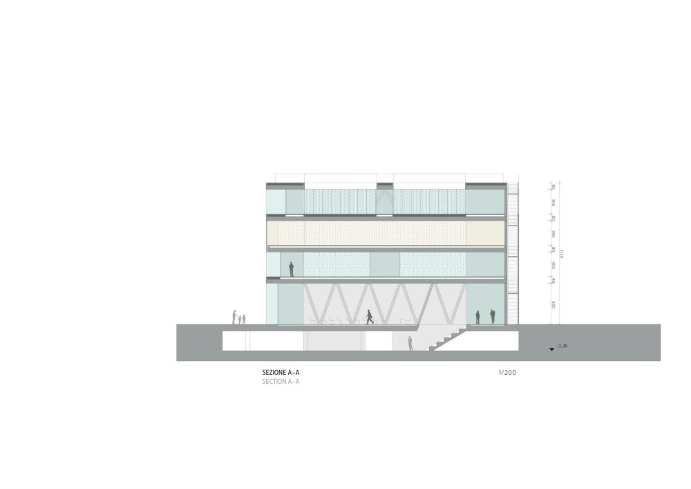 SPEDstudio's second prize for Casa della Memoria Design Competition