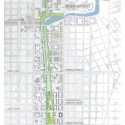 Lafitte Greenway Overall Schematic Plan - Potential Water Strategy pilot project © Waggonner & Ball Architects