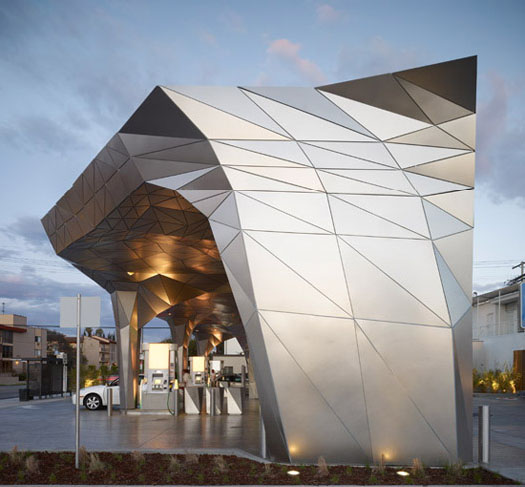 aesthetic fillup gas stations archdaily