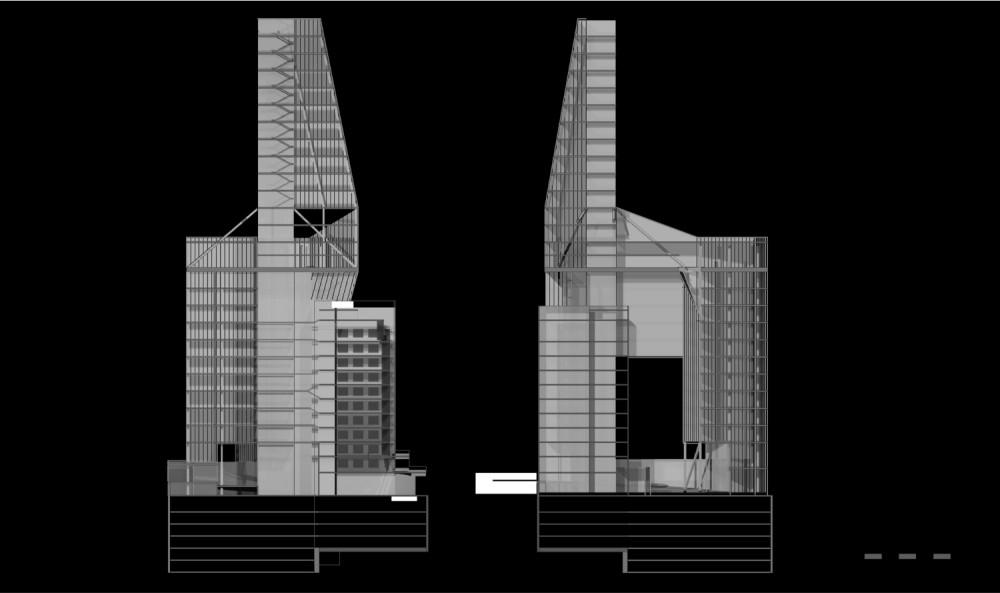 BLC Headquarter Landmark / Hapsitus Building Sections