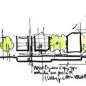  RENZO PIANO BUILDING WORKSHOP, 2010 Renzo Piano Perspective Sketch, Elevation of the Isabella Stewart Gardner Museum   RENZO PIANO BUILDING WORKSHOP, 2010