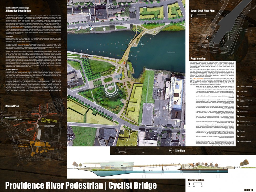 Providence River Pedestrian and Cyclist Bridge Competition Winner / inFORM Studio