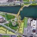 Providence River Pedestrian and Cyclist Bridge Competition Winner / inFORM Studio (2) Site Plan