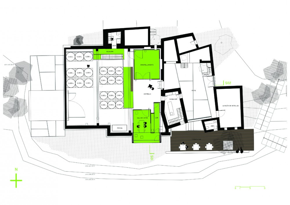 Architecture photography ground floor plan 156601 for Winery floor plans by architects