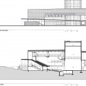 Jackson Hole Center for the Arts Performing Arts Pavilion / Stephen Dynia Architects East Elevation + Section