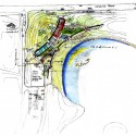 Cesar Chavez Regional Library / Line and Space (14) Concept Site Plan Diagram
