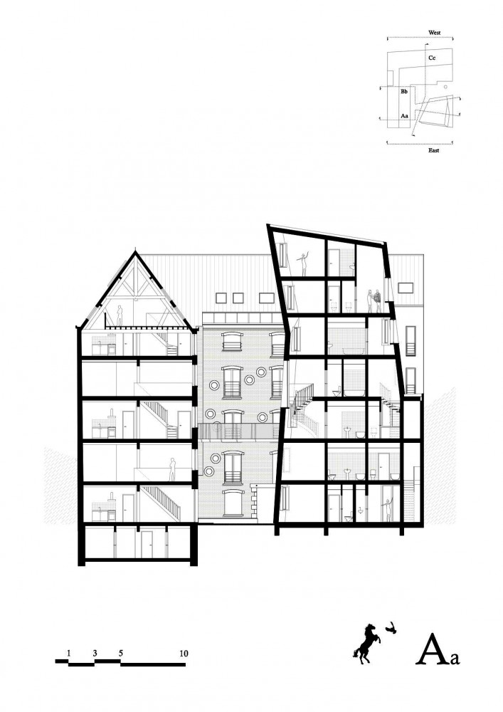 Cheval Noir Housing with Artist&#8217;s Studios / L&#8217;Escaut + Atelier Gigogne