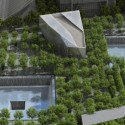 Aerial of 9/11 Memorial and Museum VIsualization by Squared Design Lab - http://www.911memorial.org/