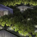 Aerial View of Memorial at Night VIsualization by Squared Design Lab - http://www.911memorial.org/
