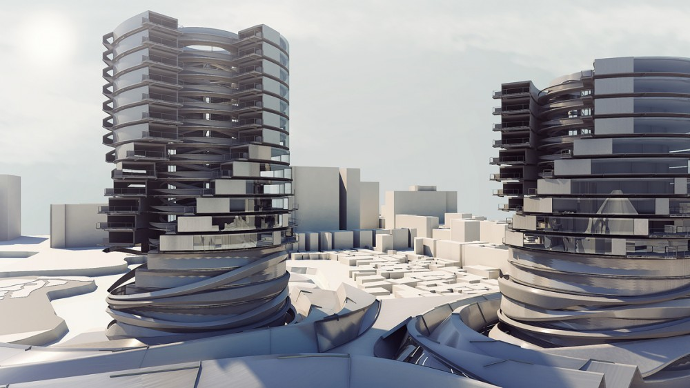 Blurry Wall Proposal / Yaohua Wang, Scott Chung, Qing Cao, & Lennard Ong