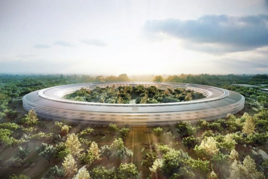 Apple new campus in Cupertino © Foster + Partners