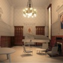 Rendering of Design for Colonel's Reception Room © Herzog and de Meuron.  Rendering for Colonel's Reception Room.