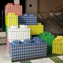 CANSTRUCTION® Exhibit in NYC (2) Building Blocks Against Hunger by FXFOWLE / WSP Flack and Kurtz