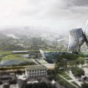 Nangjing Jianning Highrise Complex Proposal (2) view from the pavilion