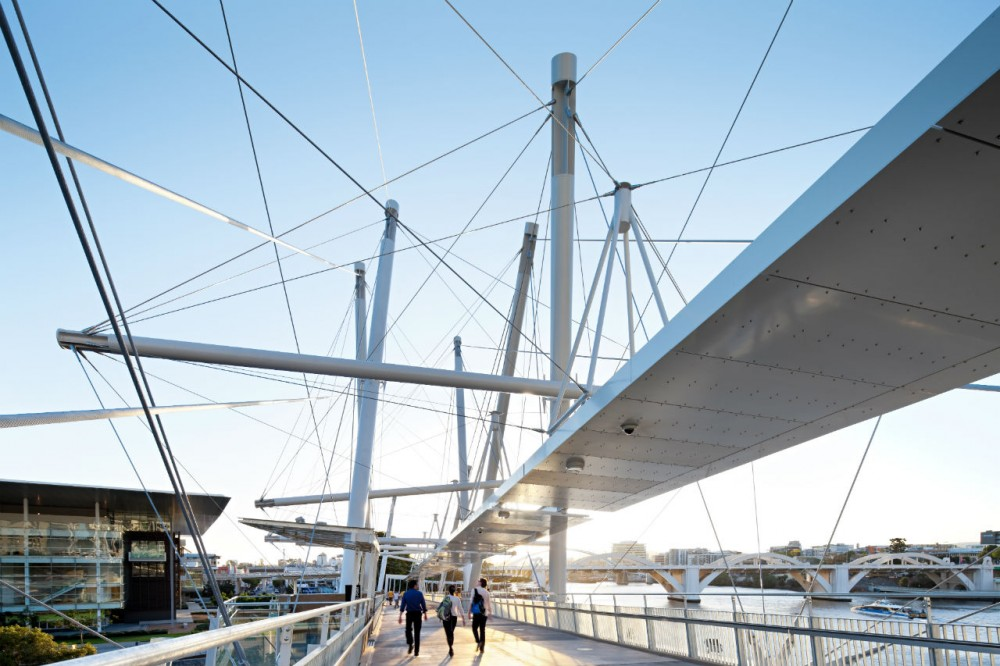 Kurilpa Bridge / Cox Rayner Architects with Arup