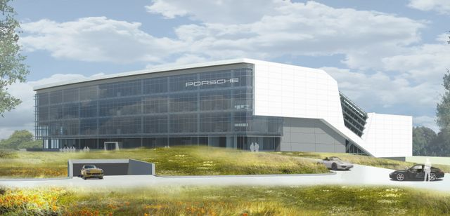 Porsche's New U.S. Headquarters and Customer Experience Center / HOK