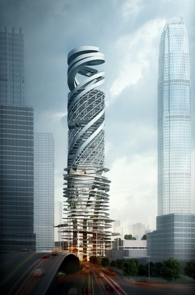 Alternative Car Park Tower Proposal / Mozhao Studio