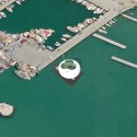 Thessaloniki Water Transport Piers Proposal (9) Bird's Eye view of the Pier from Google Earth