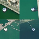 Thessaloniki Water Transport Piers Proposal (13) Bird's Eye view of all four Piers from Google Earth. Clockwise from upper left: Eleftheria Square, Megaro, Aretsou, Perea.