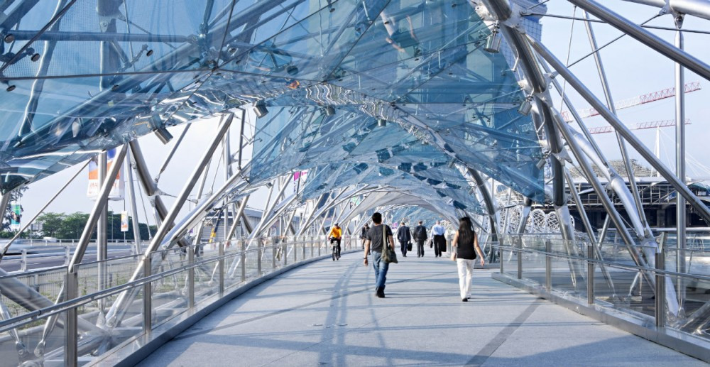 Helix Bridge / Cox Architecture with Architects 61