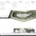 Disaster Prevention and Education Center (4) roof plan and section