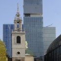 St Stephen Walbrook Church with west facade of Rothschild Bank © OMA