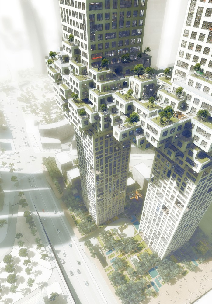 The Cloud: Two Connected Luxury Residential Towers / MVRDV