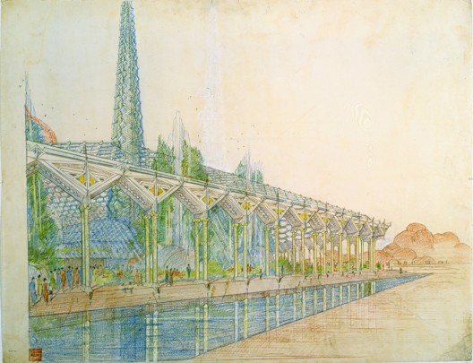 "Frank Lloyd Wright, Arizona State Capital, ""Oasis,"" Phoenix, Arizona, 1957 © 2010 Frank Lloyd Wright Foundation, Scottsdale, Arizona"
