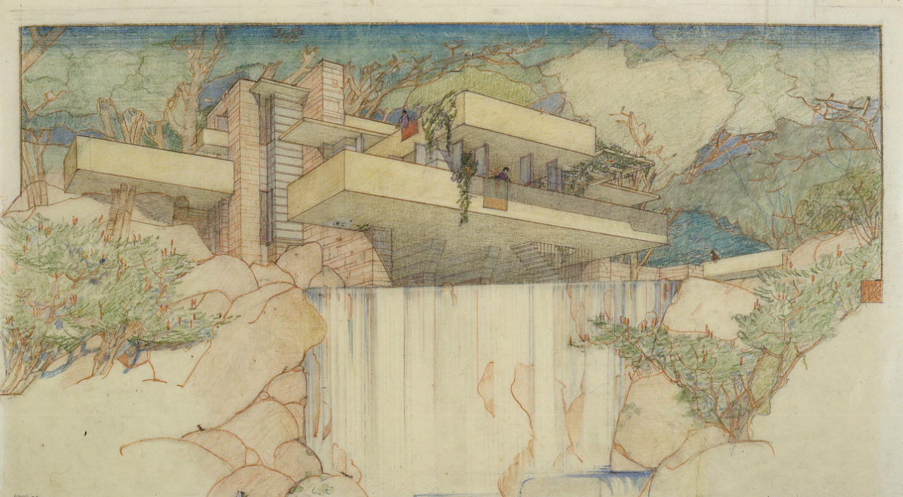 Exhibit frank lloyd wright organic architecture for the for Wright architecte