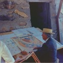 FLW at Taliesin West Frank Lloyd Wright at Taliesin West, 1955. Courtesy Frank Lloyd Wright Foundation, Scottsdale, Arizona