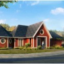 Wounded Warrior Home Project 004 Rendering of Scheme B © Michael Graves & Associates
