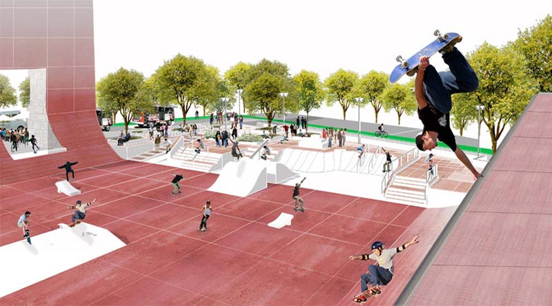 Coleman Oval Skate Park Proposal / Holm Architecture Office + VM Studio