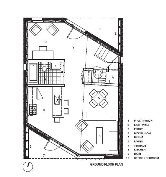 Architecture photography ground floor plan 197284 R house architecture research office