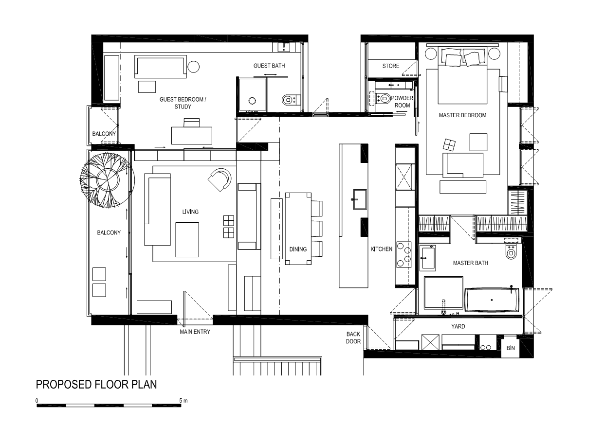 Brookvale Park / Tristan & Juliana proposed floor plan – ArchDaily