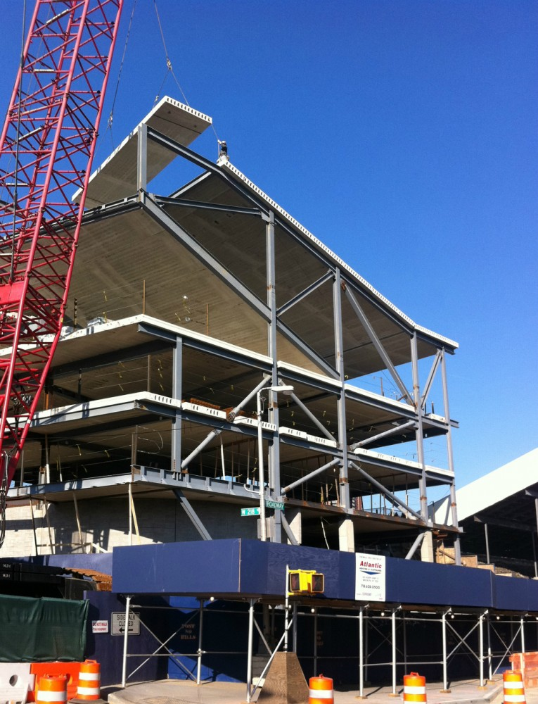 In Progress: Steven Holl Architects Campbell Sports Center Tops Out