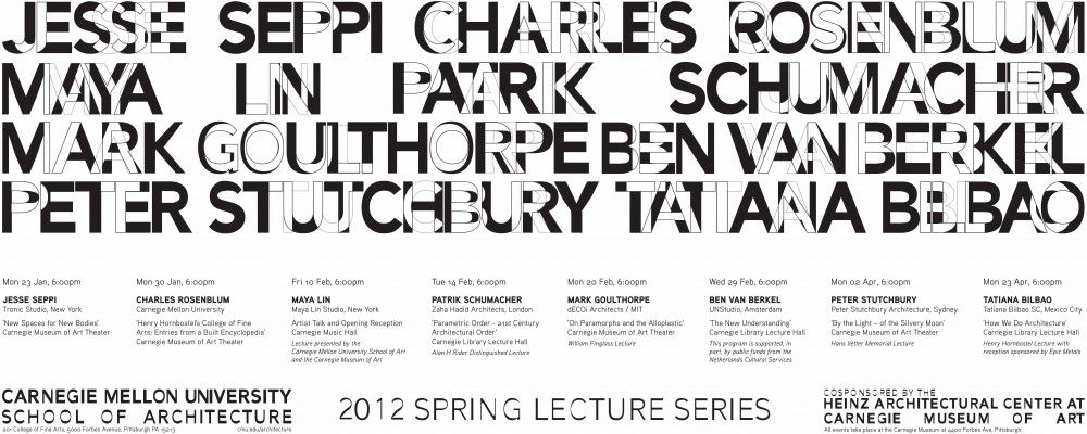 Carnegie Mellon Spring 2012 Lecture Series