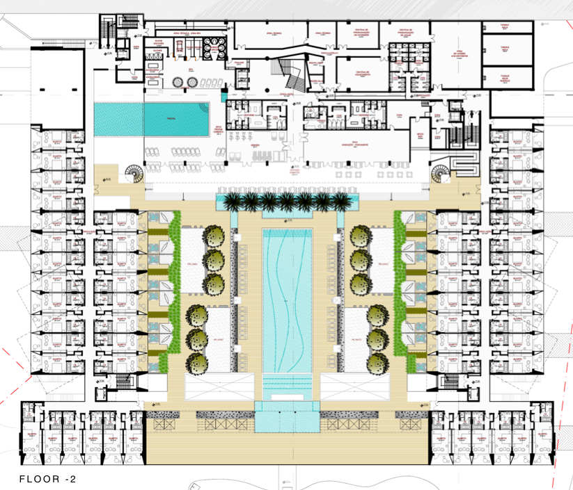 Architecture photography plan 02 204407 for Hotel layout design