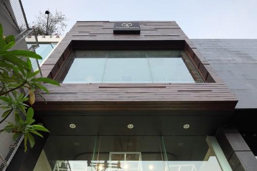 Jewellery Showroom Front Elevation : Yamakawa rattan showroom sidharta architect archdaily