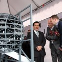 President Ma Ying-jeou with OMA partners Rem Koolhaas and David Gianotten copyright OMA President Ma Ying-jeou with OMA partners Rem Koolhaas and David Gianotten  OMA
