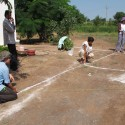 Children's Corner, Center for Rural Knowledge, Halwad / SABA (2) Marking on the ground the construction limits