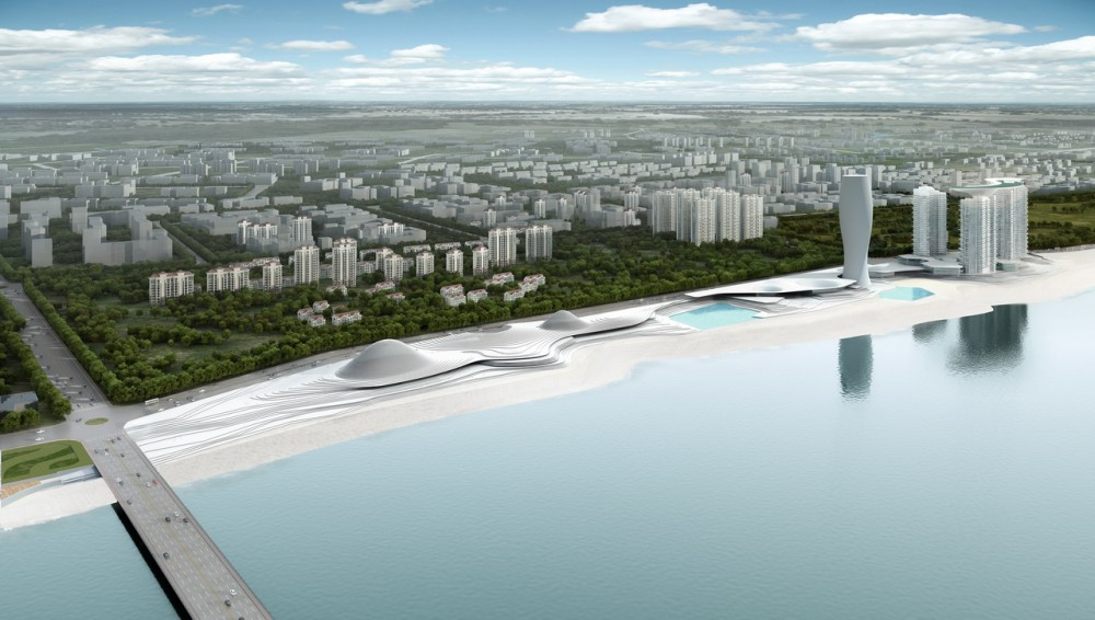 'Calling of the Sea' – Exhibition Hall for Yantai Development Zone Blueprint / Origin Architect