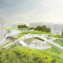 Aberdeen City Garden_DS+R 1 View from Rosemount Viaduct - Rendering provided by the Diller Scofidio + Renfro submission boards