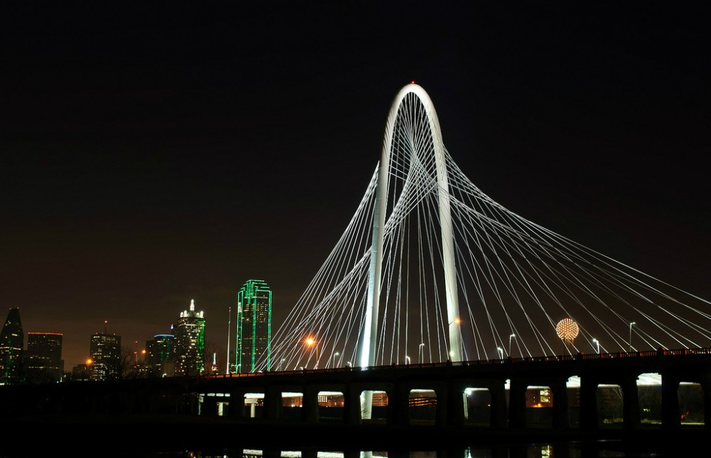 Thousands celebrate Santiago Calatrava's new Dallas Bridge