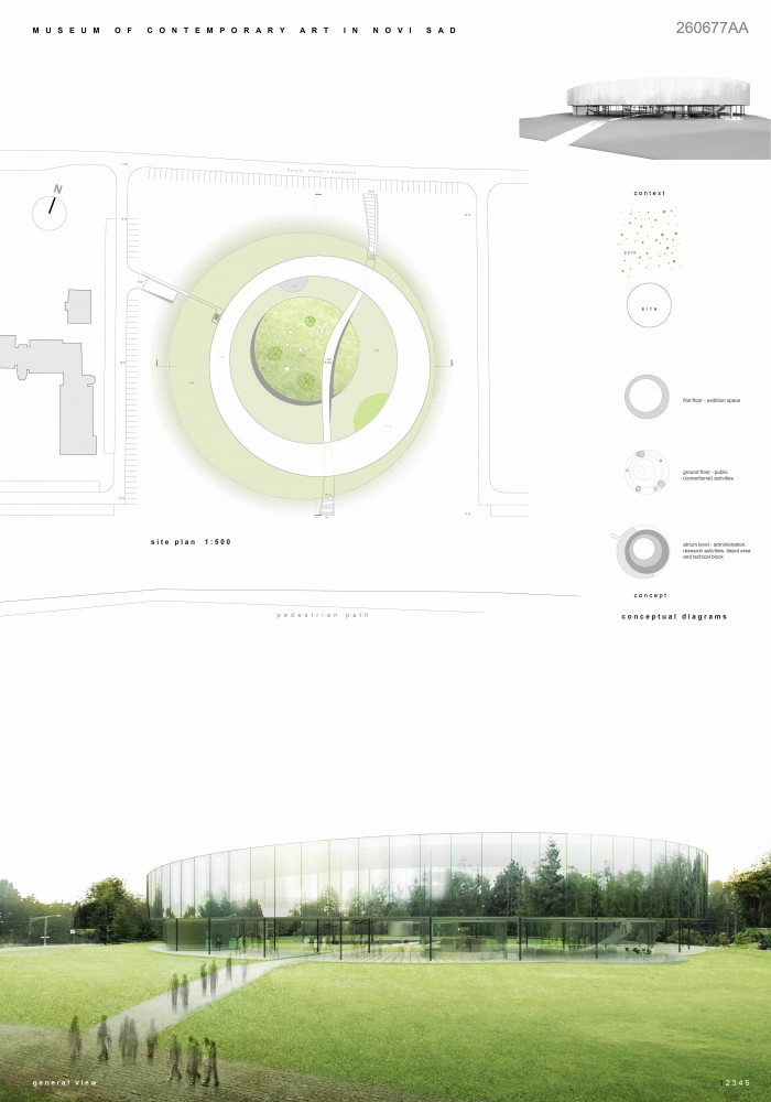 Museum of Contemporary Art of Vojvodina Proposal / Đordje Alfirević & Ana Čarapić