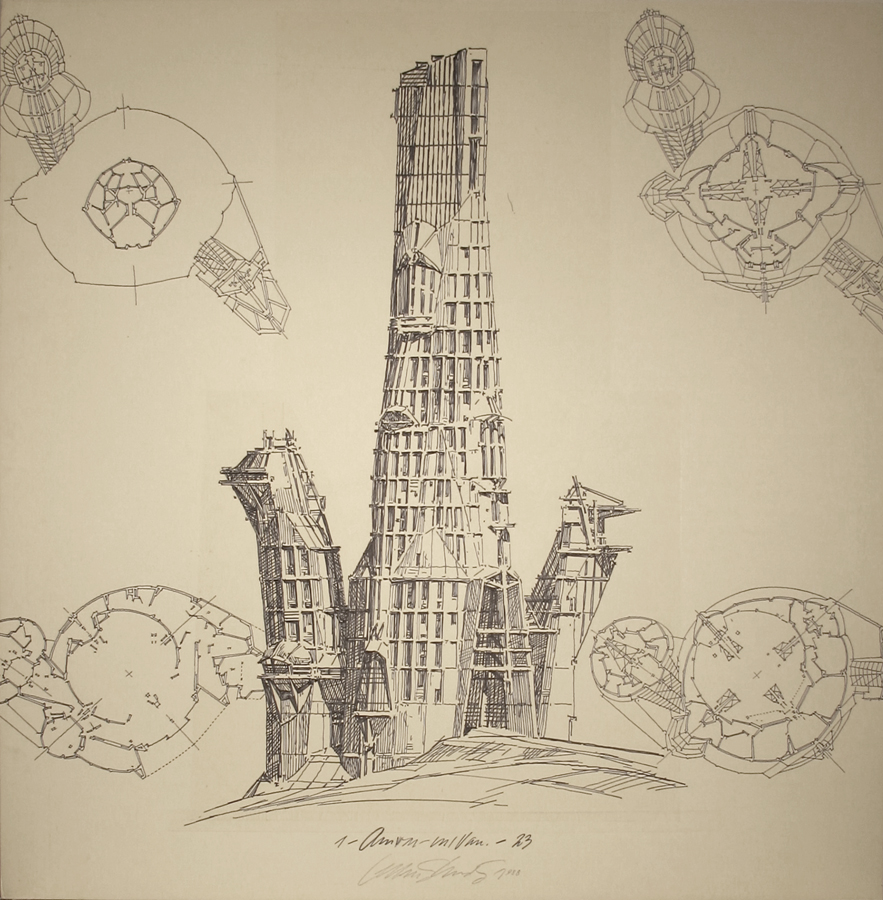 Lebbeus Woods: Early Drawings on Exhibit in NYC