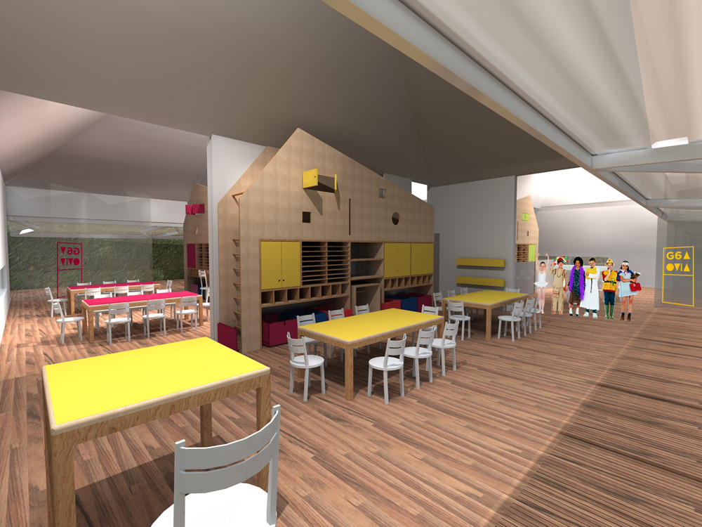 Classroom Restaurant Design ~ Architecture photography cedei nursery school