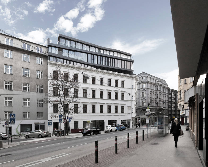 Renovation and Heightening in Margaretenstrase 9 / Josef Weichenberger Architects