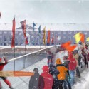 &#039;The Rink&#039; Pedestrian Bridge Proposal (3) Courtesy of Kamvari Architects