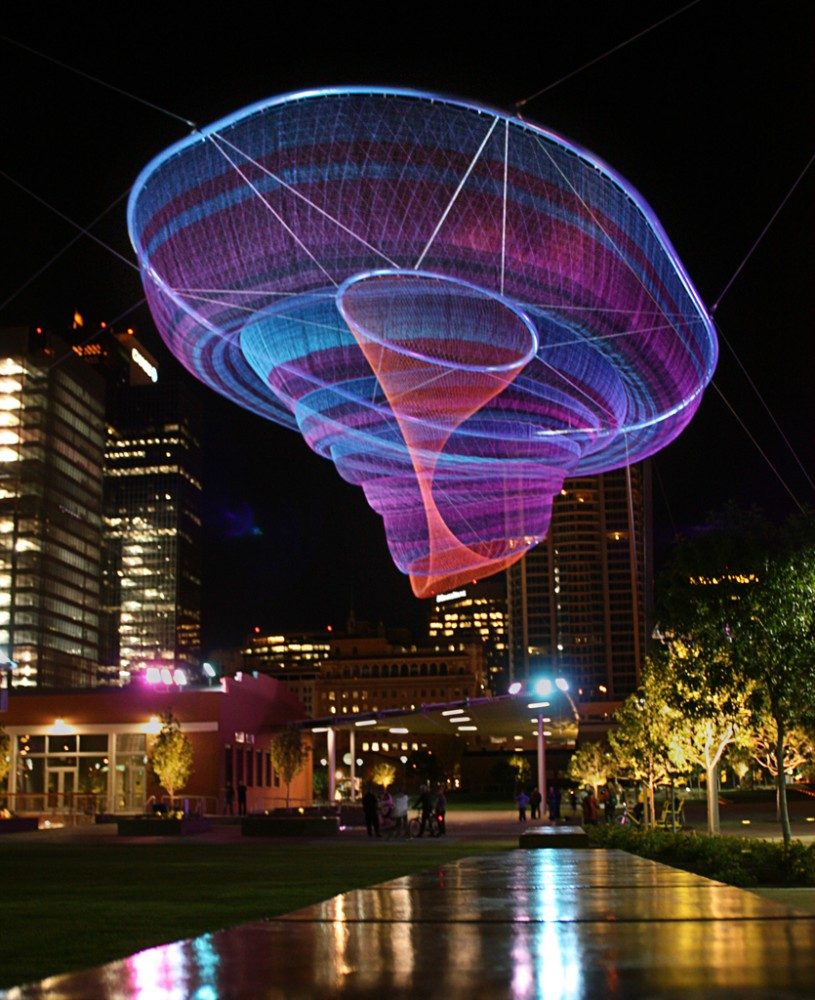 Janet Echelman Reshaping Urban Airspace World-Wide